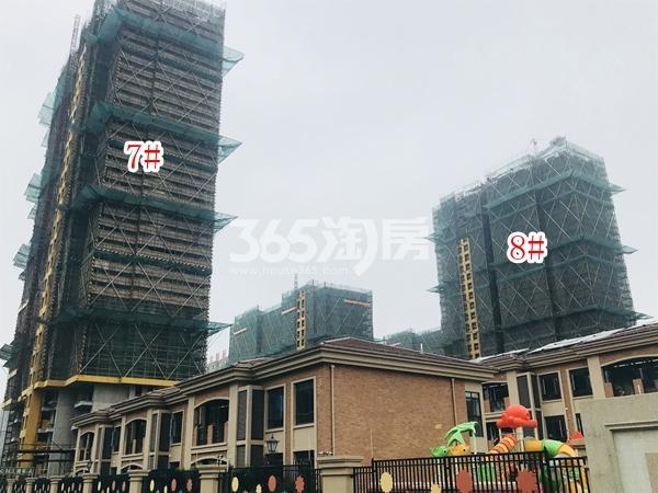 栖霞东方天郡三期高层7#、8#楼实景图(2018.6 摄)
