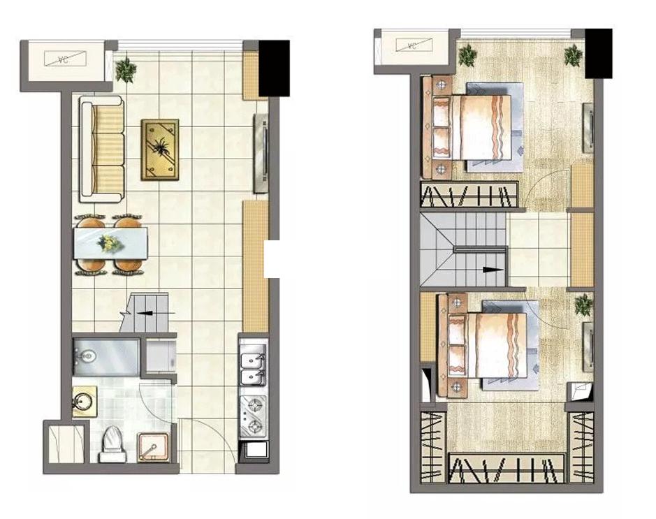 临安宝龙广场loft公寓|户型图
