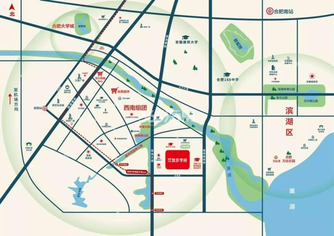 金辉中梁优步学府交通图