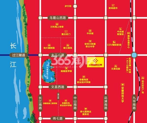 云鼎国际公寓交通图