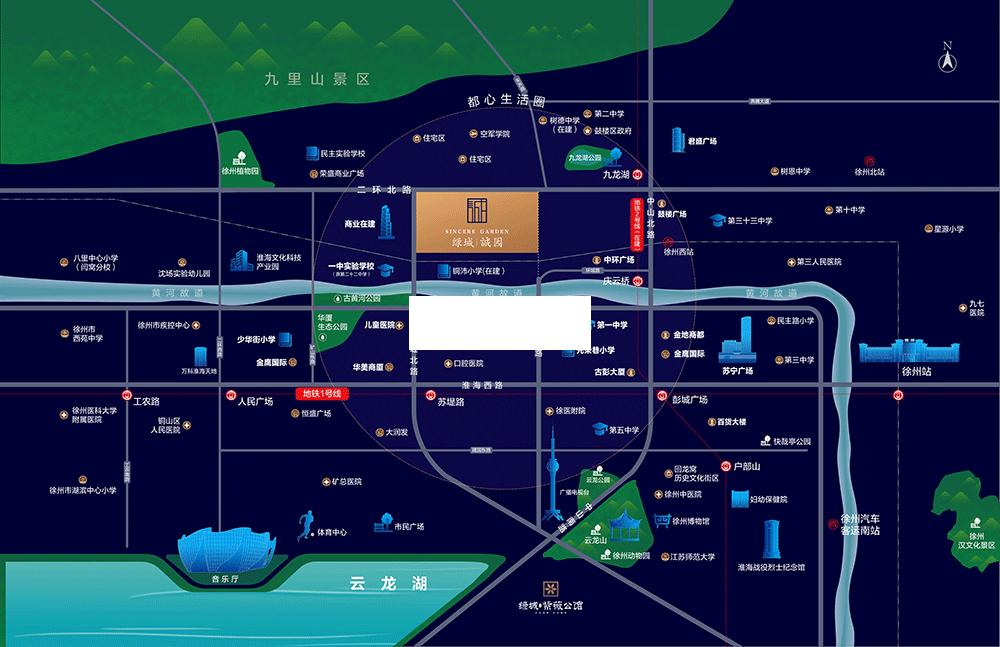 绿城诚园交通图