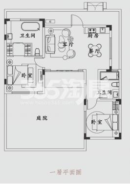 锦和云水江南77.28方户型图