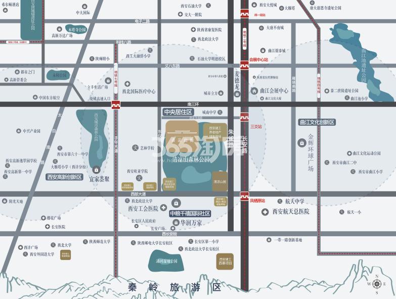 清凉山樾交通图