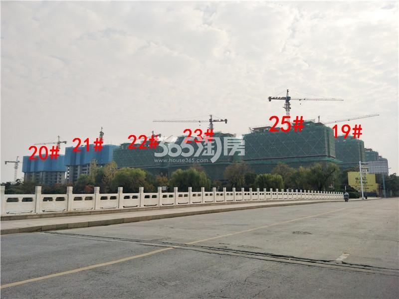 中梁首府19、20、21、22、23、25#楼在建实景图(11.20)