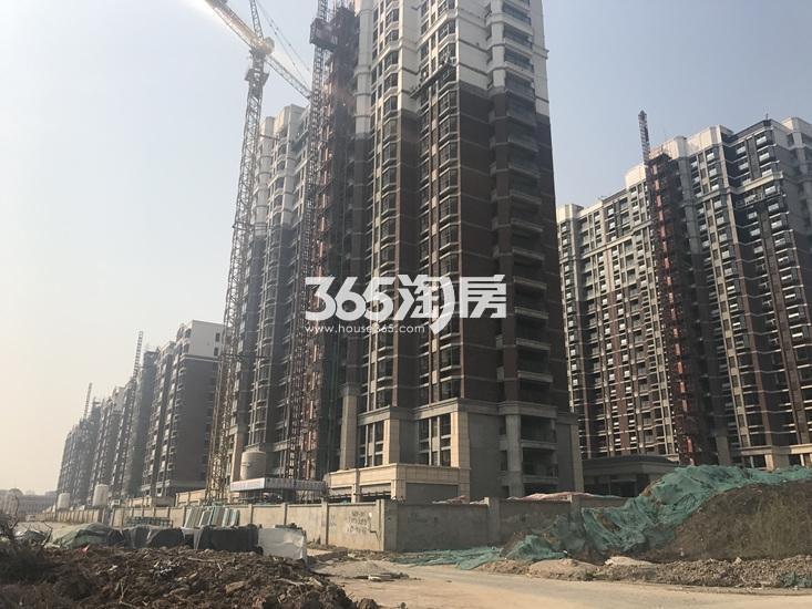 金浦御龙湾高层建筑进度图(8.4)
