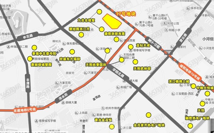 合景天銮交通图