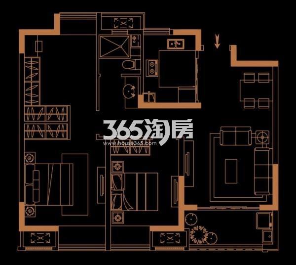 恒基旭辉城89平户型