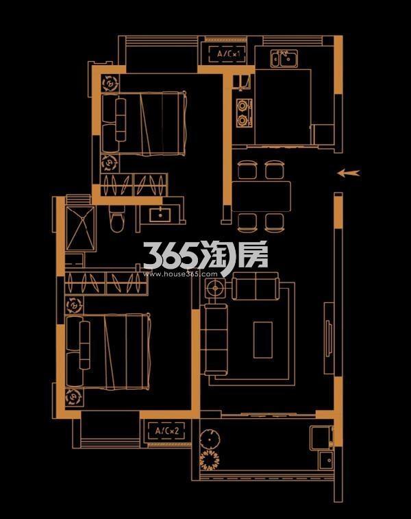 恒基旭辉城79平户型