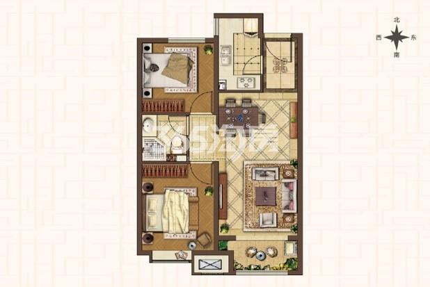 D1-82平米两室两厅一卫