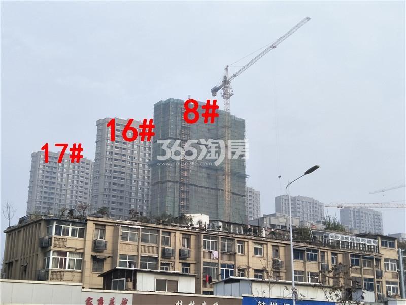 美的乐城在建8、16、17#楼实景图(11.21)