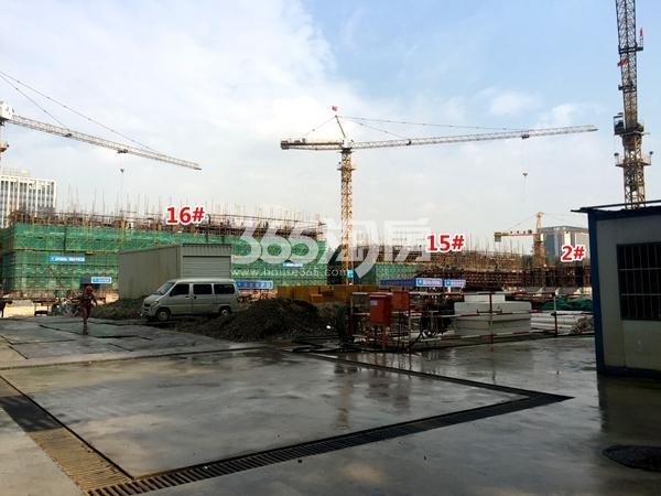 银城东樾府15#、16#楼高层工程进度实景图(2017.10摄)