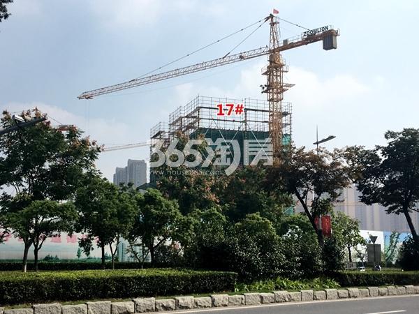 中锐星公元17#楼工程进度实景图(2017.10摄)