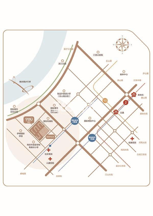 青奥村交通图