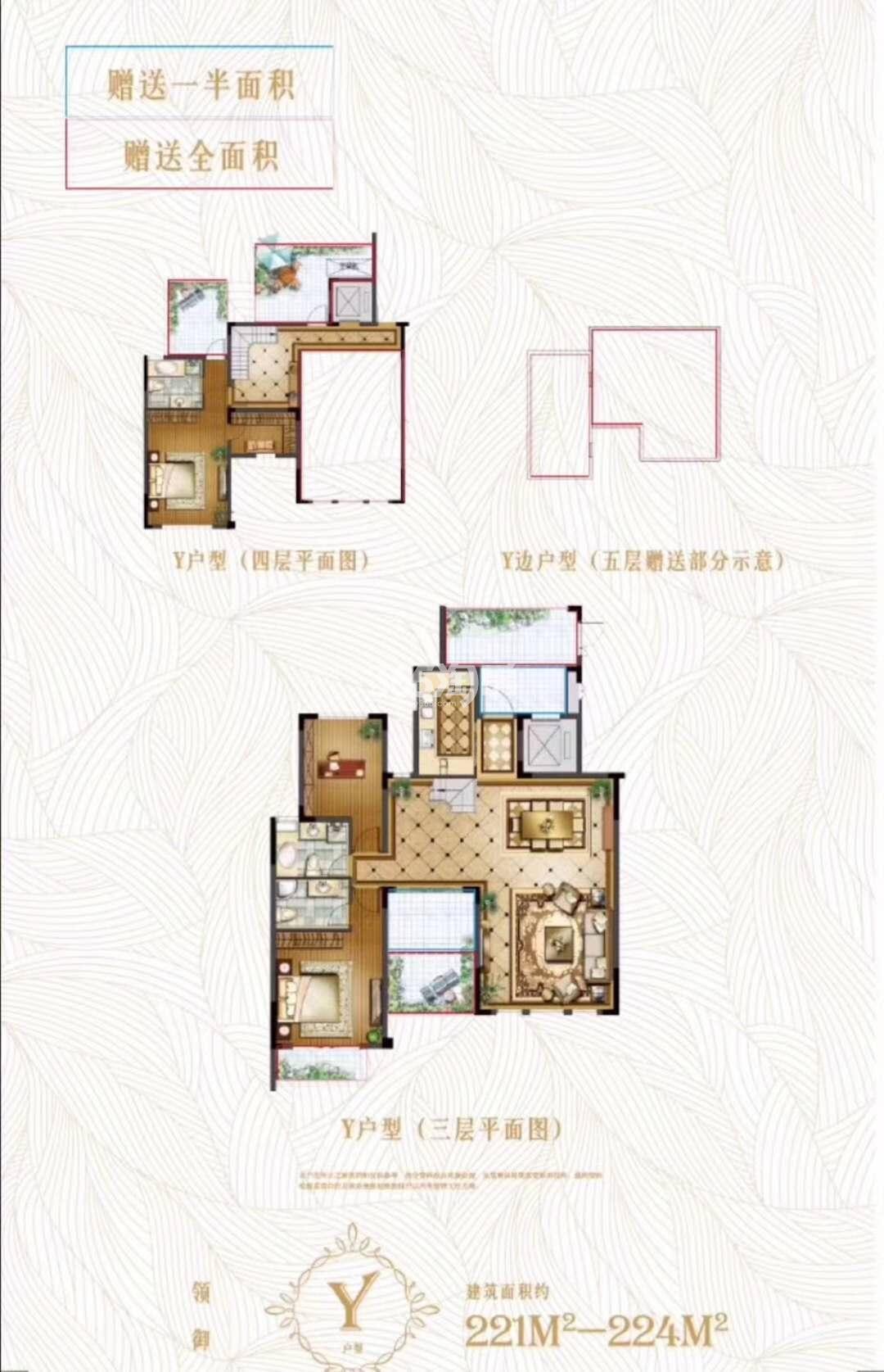 大华锦绣华城别墅Y户型221-224㎡
