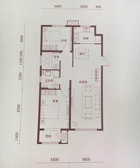 洋房103平米2室2厅1卫