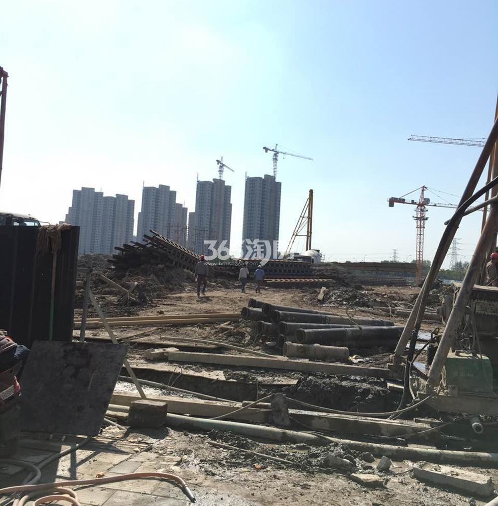 绿都云和湖项目施工现场(2017.11)