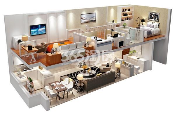 紫晶未来城·荣寓51㎡A1户型