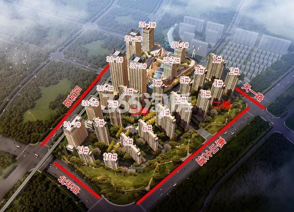 太平洋城中城二期、三期楼栋分布图