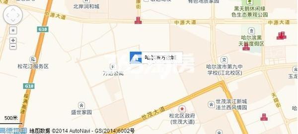 哈尔滨万达城交通图