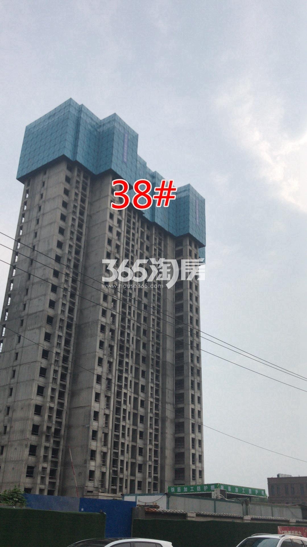 荣盛花语城38#工地建设实景图(8.27)