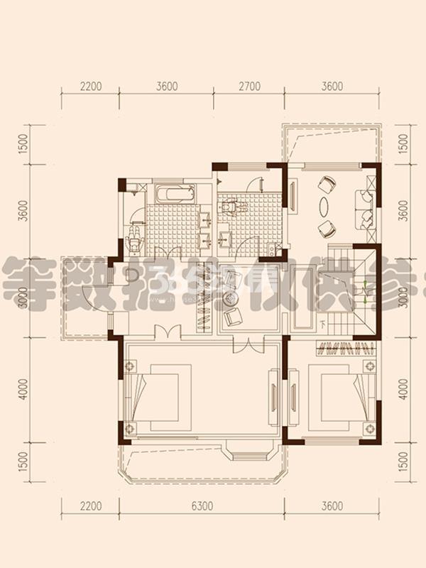保利西山林语F25#楼04户型442㎡之二层106㎡