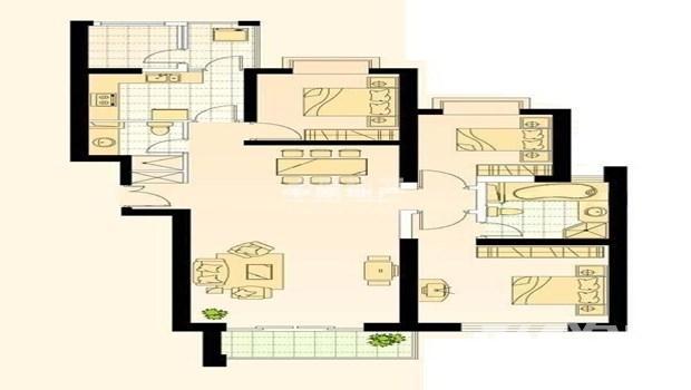 世茂滨江新城一期3室2厅2卫176㎡整租精装