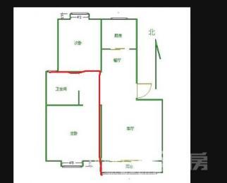 <font color=red>天润城6街区</font>2室2厅1卫98平米精装整租