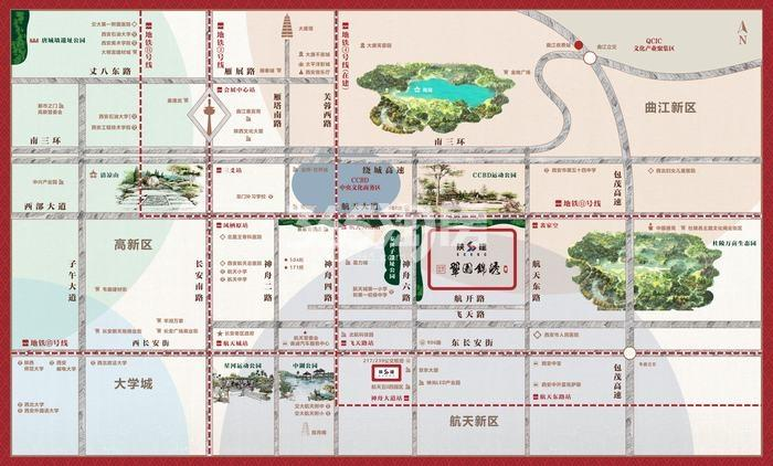 陕建翠园锦绣交通图