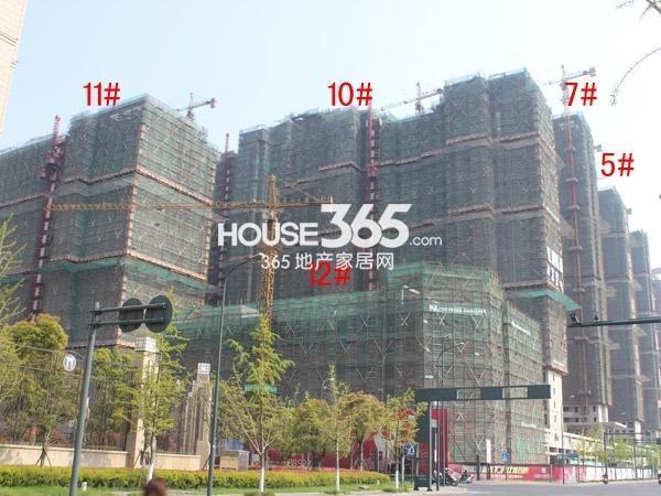 星河国际5#、7#、10-12#楼工程进度图(2015.4)