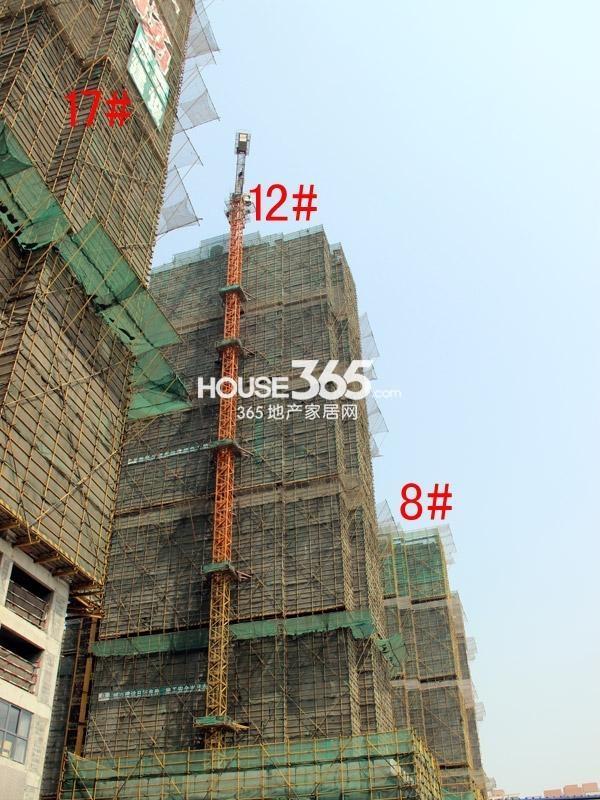 弘阳广场8#、12#、17#楼工程进度图(2015.4)