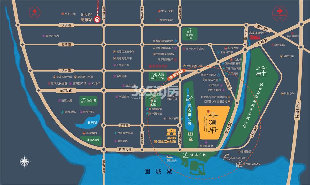 平澜府交通图
