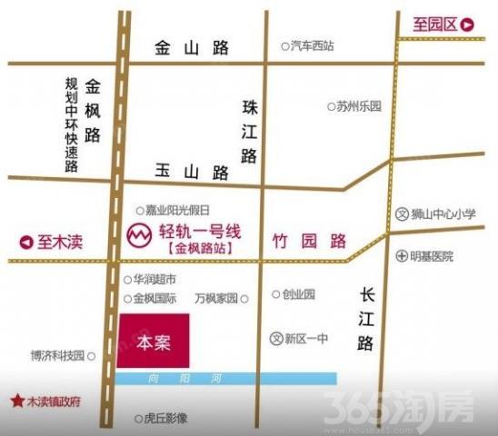 吴中木渎板块商铺房源 新区狮山 有名胜景区 1号线
