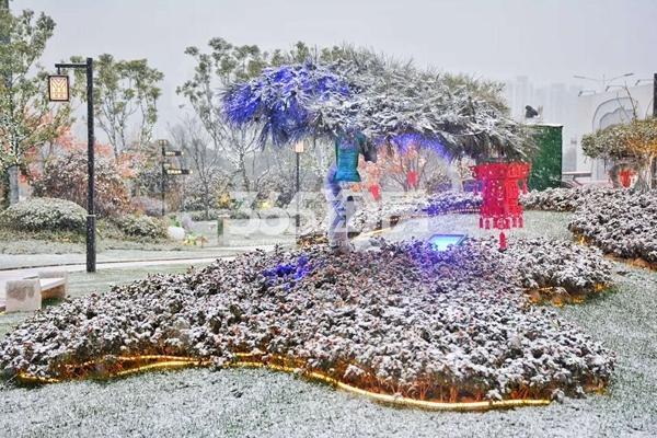 碧桂园塘溪源著雪景-景观(2018.1摄)