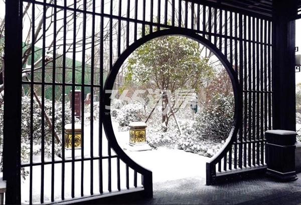 荣盛华府雪景景观(2018.1摄)