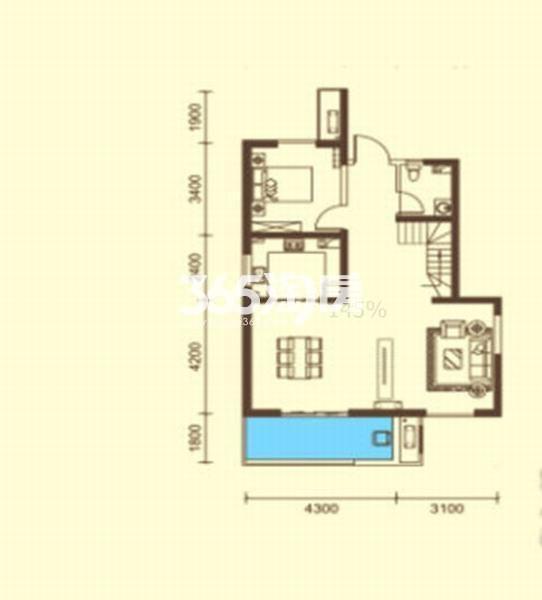 桃源漫步高层A户型4室2厅3卫约152㎡