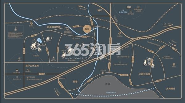 万科有山交通图