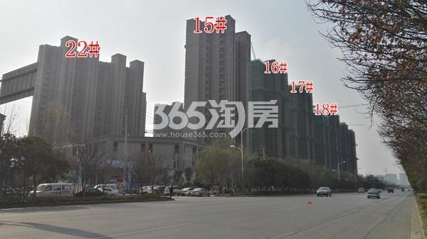恒大滨河左岸二期15-18#及11#楼实景(12.14)