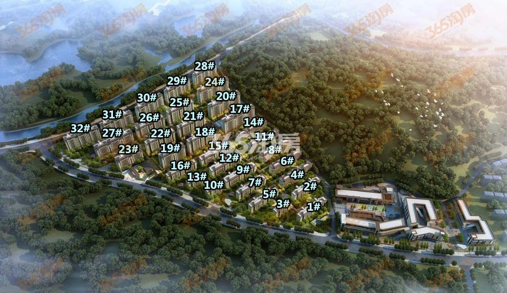 华侨城翡翠天域项目鸟瞰图