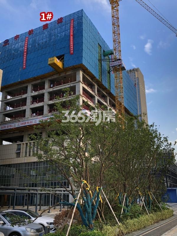 宝能城B地块1#楼工程进度实景(2018.9摄)