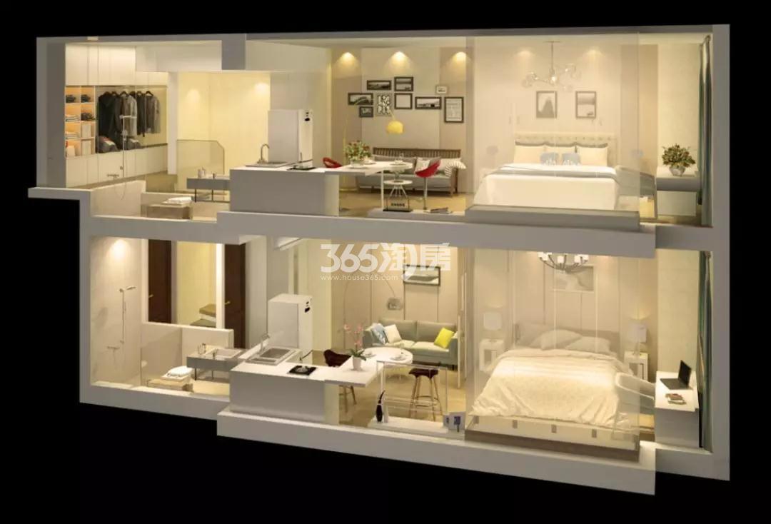 金轮双子星国际公寓户型模拟图