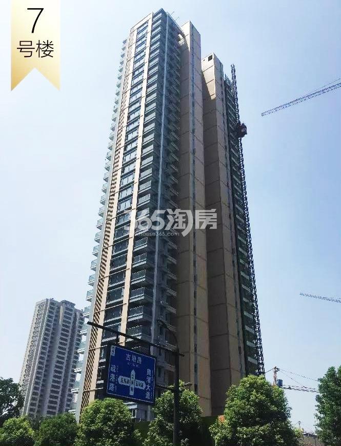 2018年8月融信澜天高层7号楼实景