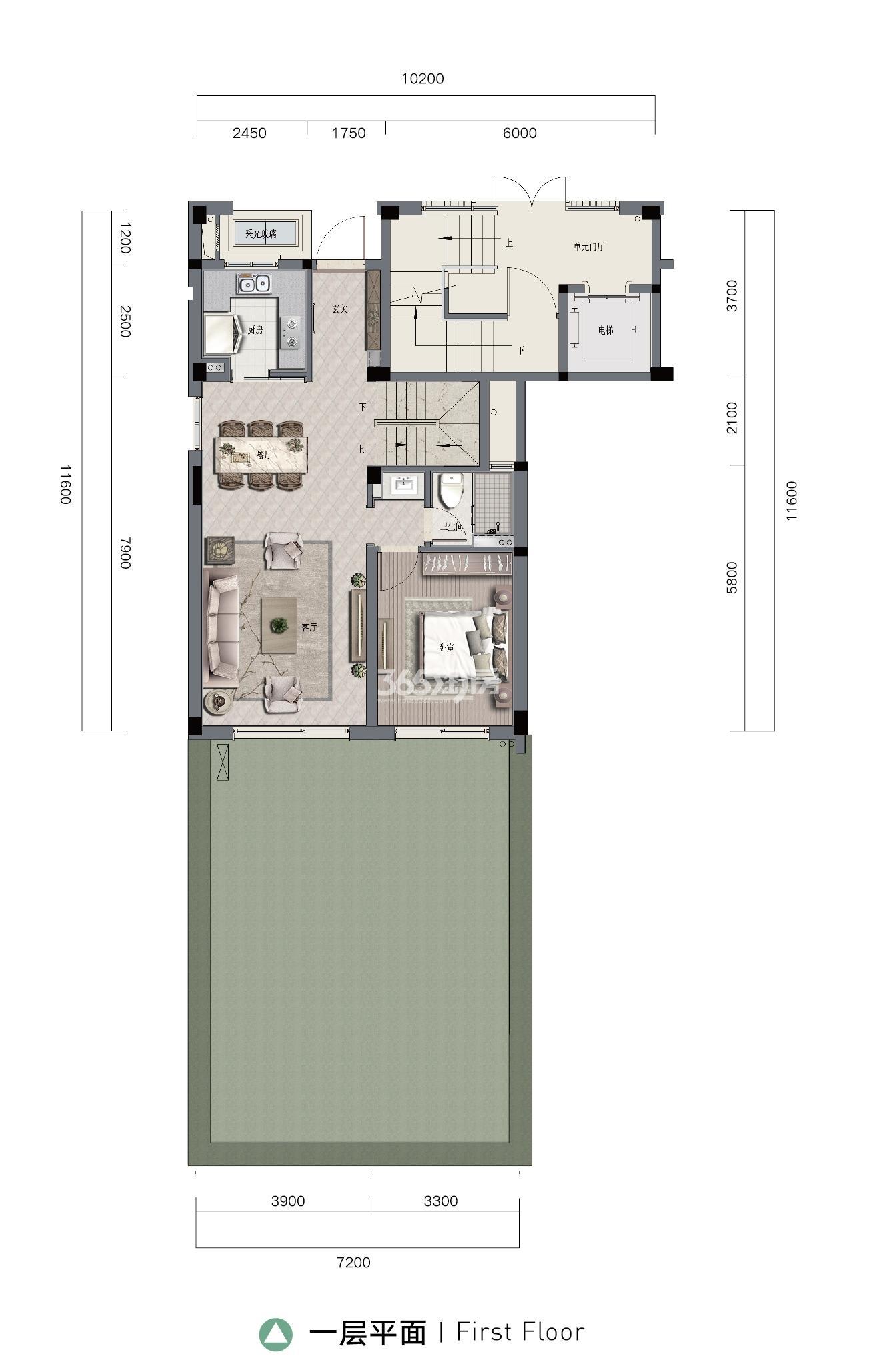 融创微风之城四期叠排下叠144方(1层)