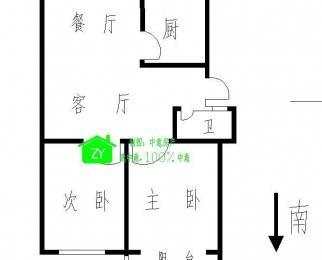 玫瑰花园2室2厅1卫93平方产权房精装