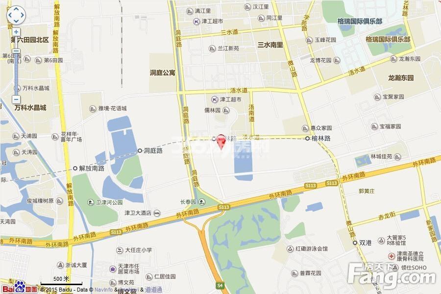 天津全运村交通图