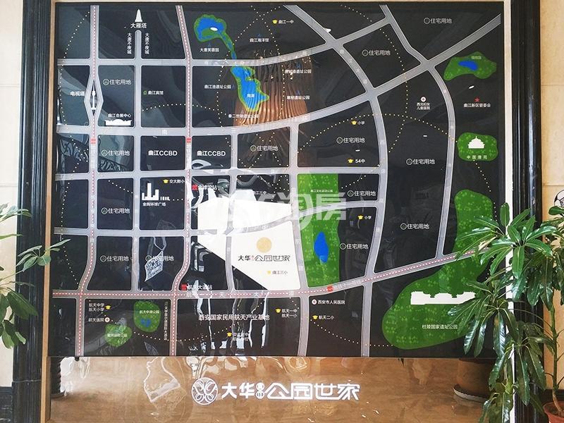 大华曲江公园世家交通图