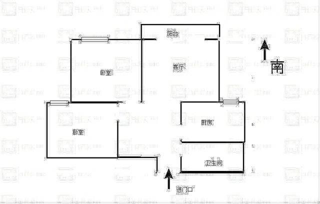 龙首北路与明光路十字 天赐苑小区 两室精装 82平110万急售
