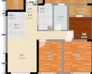 新站区华府竹丝苑125万134平精装房 地铁房 学区房
