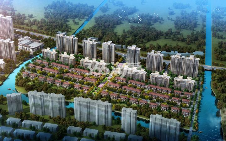 宜兴恒大花溪小镇鸟瞰图