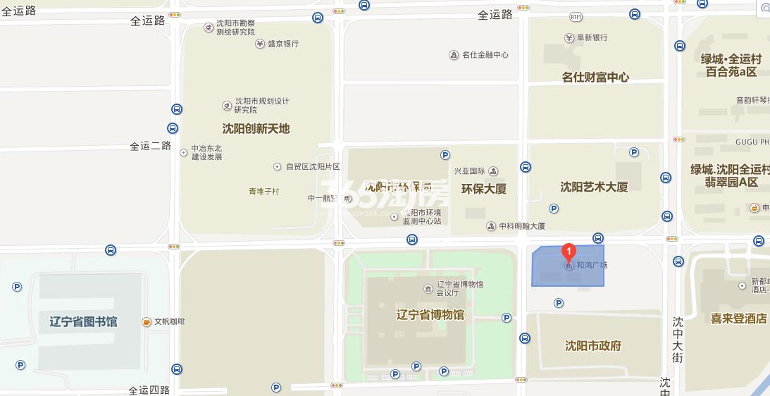 市府和鸿广场交通图