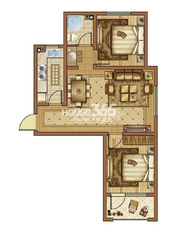 澳海7号公馆2室2厅1卫70㎡